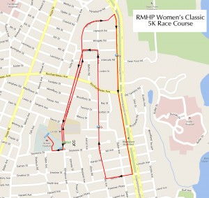 5K Race Course Map